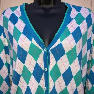 Brooks Brothers Sweaters - Brooks Brothers | SaxxonWool ArgyleCardigan